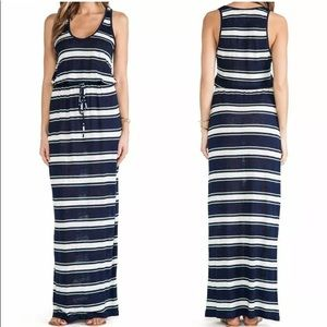 Joie Kimani Linen Blue&White Striped Maxi Dress